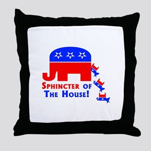 Sphinceter Of The House Throw Pillow