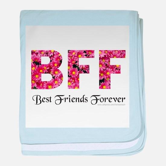 BFF BEST FRIENDS FOREVER baby blanket