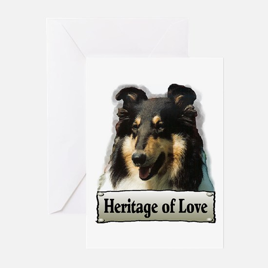 Tri Rough Collie Gifts Greeting Cards (Package of
