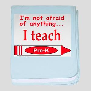 TEACH PRE-K baby blanket