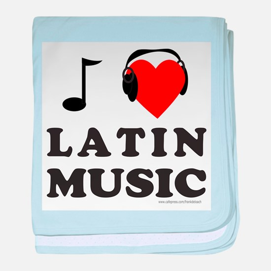 LATIN MUSIC baby blanket