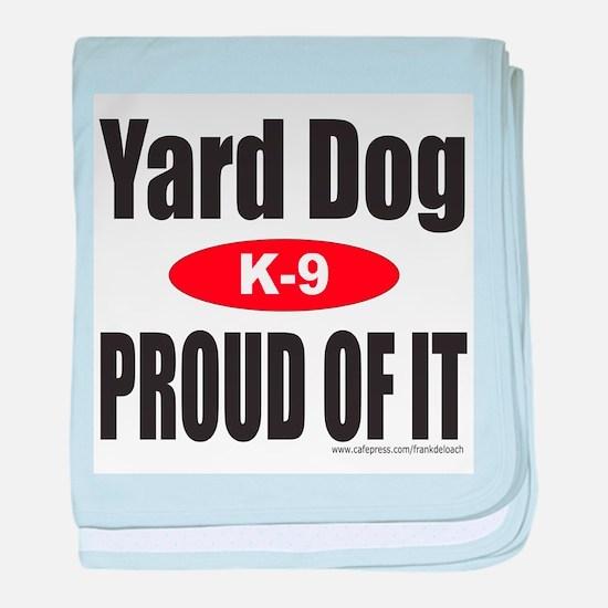 YARD DOG baby blanket