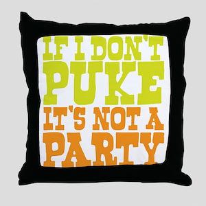 Pukin' Party Throw Pillow