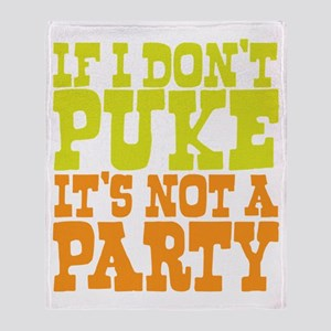 Pukin' Party Throw Blanket