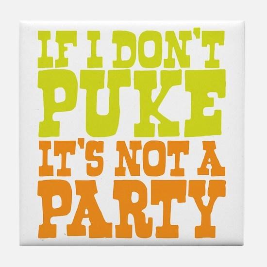 Pukin' Party Tile Coaster