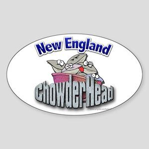 New England Chowderhead... Oval Sticker