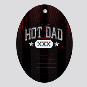 Hot Dad Ornament (Oval)
