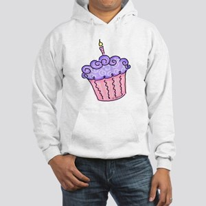 Pink and Purple Cupcake Hooded Sweatshirt