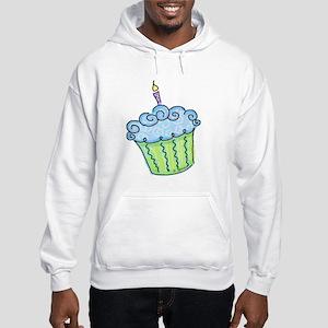 Cute Cupcake (blue) Hooded Sweatshirt