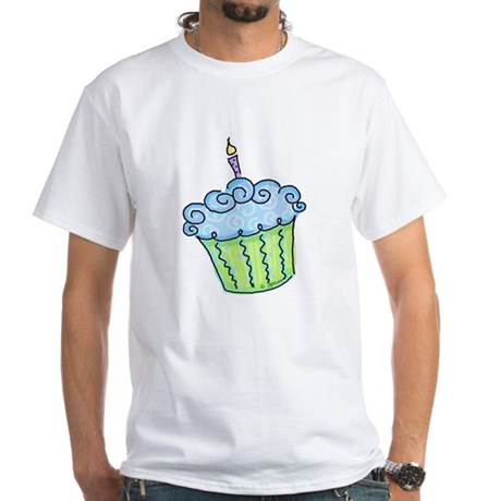 Cute Cupcake (blue) White T-Shirt