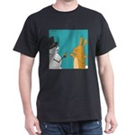 Frosty and the Easter Bunny (no text) Dark T-Shirt