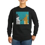 Frosty and the Easter Bunny (no text) Long Sleeve