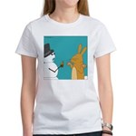Frosty and the Easter Bunny (no text) Women's T-Sh