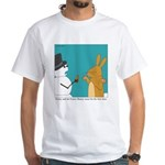 Frosty and the Easter Bunny White T-Shirt