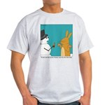 Frosty and the Easter Bunny Light T-Shirt