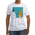Frosty and the Easter Bunny Fitted T-Shirt