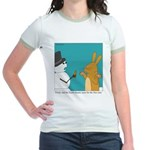 Frosty and the Easter Bunny Jr. Ringer T-Shirt