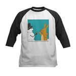Frosty and the Easter Bunny Kids Baseball Jersey