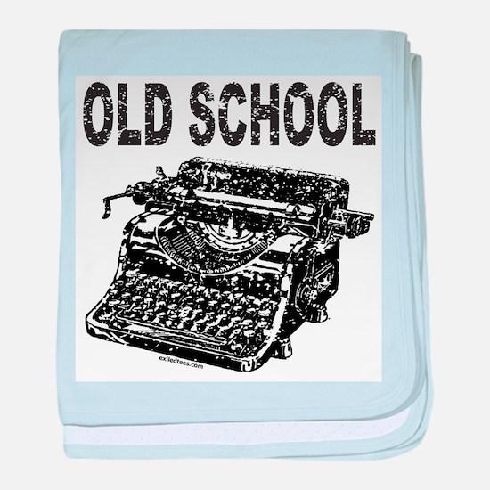 OLD SCHOOL TYPEWRITER baby blanket
