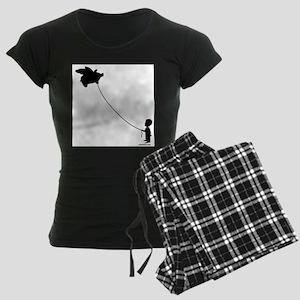 WHEN PIGS FLY Women's Dark Pajamas