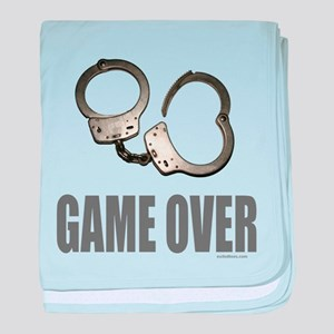 HANDCUFFS/POLICE baby blanket