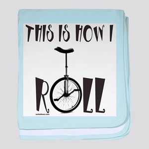UNICYCLE/UNICYCLIST baby blanket