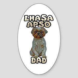 Lhasa Apso Dad Sticker (Oval)