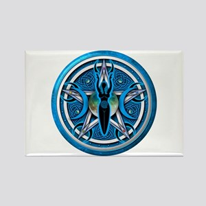 Pentacle of the Blue Goddess Rectangle Magnet