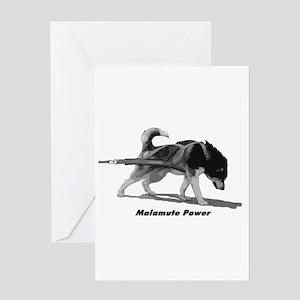 Malamute Power Greeting Card