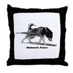 Malamute Power Throw Pillow