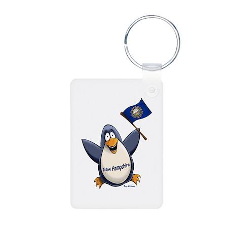 New Hampshire Penguin Aluminum Photo Keychain