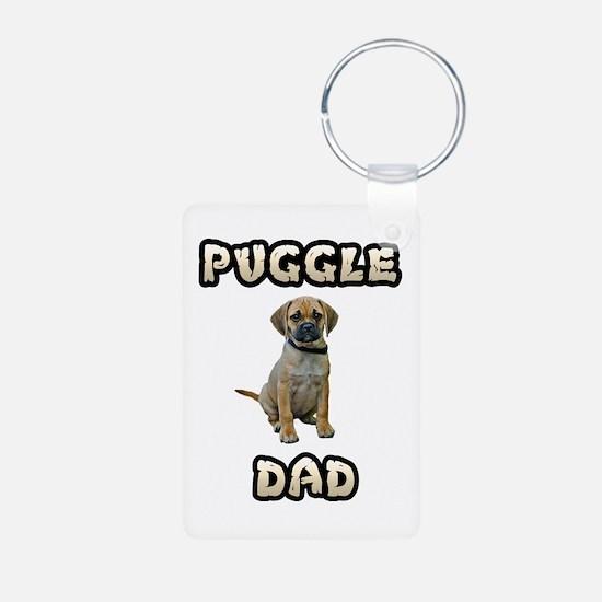 Puggle Dad Keychains