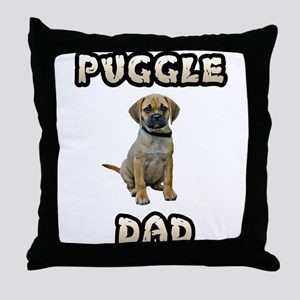 Puggle Dad Throw Pillow