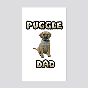 Puggle Dad Sticker (Rectangle)