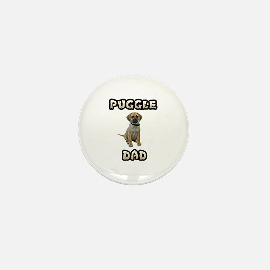 Puggle Dad Mini Button