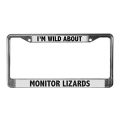 Wild About Monitor Lizards License Plate Frame