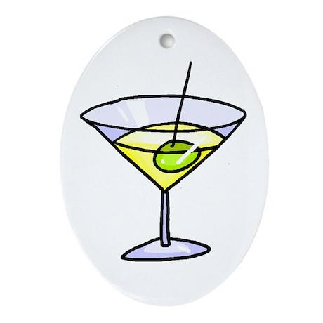 Martini Oval Ornament