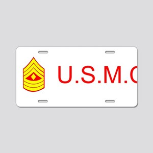 U.S.M.C. Aluminum License Plate
