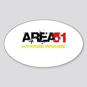 Area 51 Sticker (Oval)