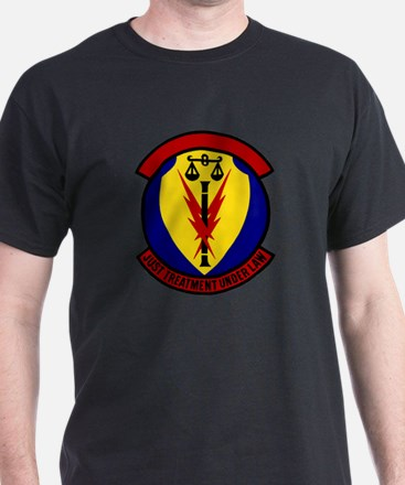366th Security Police Black T-Shirt