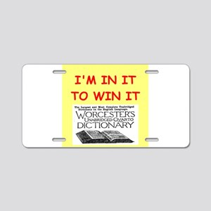 word game lover Aluminum License Plate