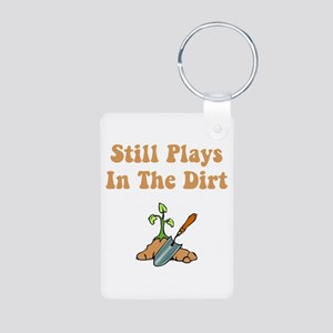 Still Plays In The Dirt Aluminum Photo Keychain