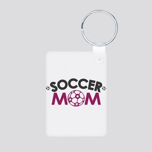 Soccer Mom Aluminum Photo Keychain