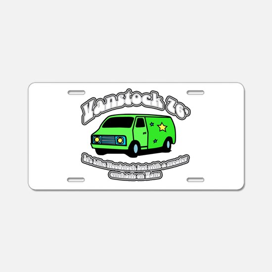 Vanstock 76 - White Text Aluminum License Plate
