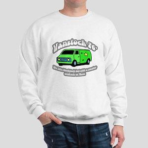 Vanstock 76 - White Text Sweatshirt