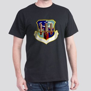 554th Security Police Black T-Shirt