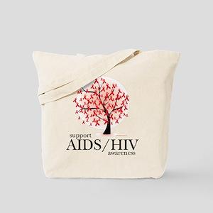 AIDS/HIV Tree Tote Bag