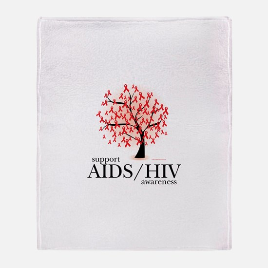 AIDS/HIV Tree Throw Blanket