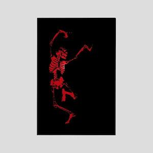 The Dancing Skeleton Rectangle Magnet