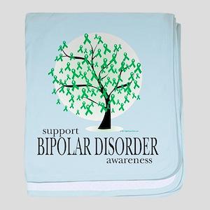 Bipolar Disorder Tree baby blanket